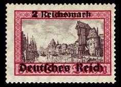 1939 - Gdansk with overprints - 2RM German Confederation, German Stamps, Danzig, Mail Art, Rda, 21st October, December, World War Ii, Postage Stamps