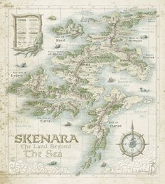 Skenara [Land Beyond the Sea] by SirInkman map cartography | Create your own roleplaying game material w/ RPG Bard: www.rpgbard.com | Writing inspiration for Dungeons and Dragons DND D&D Pathfinder PFRPG Warhammer 40k Star Wars Shadowrun Call of Cthulhu Lord of the Rings LoTR + d20 fantasy science fiction scifi horror design | Not Trusty Sword art: click artwork for source