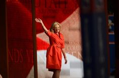 """""""Ann Romney speaks to the delegates at the Republican National Convention at the Tampa Bay Times Forum in Tampa"""" -- The Washington Post"""