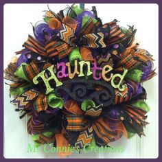 Halloween+Deco+Mesh+Wreath+by+CreationsbyMsConnie+on+Etsy,+$65.00