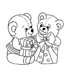 Christmas Bear Coloring Pages Bear Coloring Pages, Coloring Pages For Kids, Adult Coloring, Coloring Books, Kids Coloring, Christmas Animals, Christmas Colors, Christmas Coloring Sheets, Digi Stamps