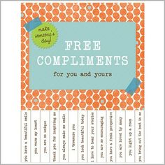 This charming Free Compliments Poster from Kind Over Matter caught my attention right away! What a fun way to be creative and make someo. Positive Thoughts, Positive Vibes, Positive Sayings, Label Shapes, School Social Work, Staff Appreciation, School Counseling, Sign Quotes, Body Image