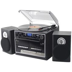 Pyle Home Pttcsm70Bt 3-Speed Turntable With Cd & Mp3 Player, Radio & Bluetooth(R)