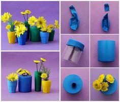 pot bunga cantik dari balon