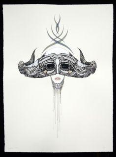 VALKYRIES DESIRE BY: GEORGE HAMBOV 56CM X 76CM X 0CM $2394 2012 Mixed Media on Bockingford Framed