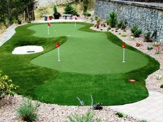 Ideal design nearest in size and shape to my existing yardbetter known as the Gopher Resort right now Home Putting Green Putting Green Backyard Diy Home Putting Green. Home Putting Green, Outdoor Putting Green, Backyard Patio Designs, Backyard Projects, Backyard Landscaping, Backyard Decorations, Backyard Playground, Backyard Retreat, Golf Courses