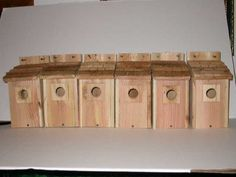 Birdhouses  6 Bluebird House with Cedar Shake Roof....cedarnest Patio Makeover <3 This is an Amazon Associate's Pin. Clicking on the image will lead you to find similar product on the website
