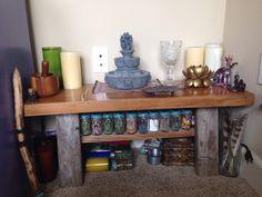 My temporary altar.