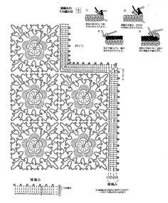 Pretty top in  lacy motif crochet