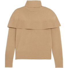 Chloé Cashmere turtleneck sweater ($1,395) ❤ liked on Polyvore featuring tops, sweaters, camel, turtle neck top, cashmere turtleneck, camel turtleneck sweater, turtle neck sweater and ribbed turtleneck sweater