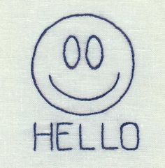 Smiling Hello - The Reverse Side: Smiling Hello Embroidery Project