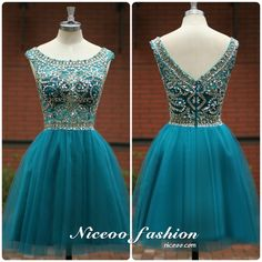 Sexy Blue A-Line/princess Scoop Neck short/mini Tulle prom dresses with Beaded Sleeveless  #promdress #formaldress #eveningdress #prom #dress http://niceoo.com/products/16258926-sexy-blue-a-line-princess-scoop-neck-short-mini-tulle-prom-dresses-with-bead