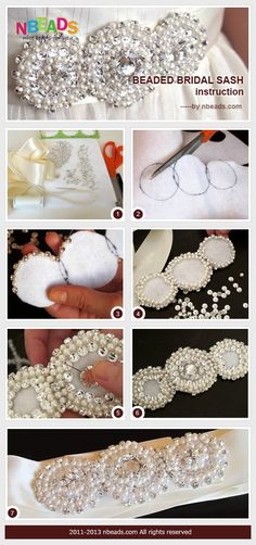 beaded bridal sash instruction