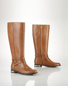 Leather Jakayla Boot - Lauren Boots - RalphLauren.com 9.5b tan