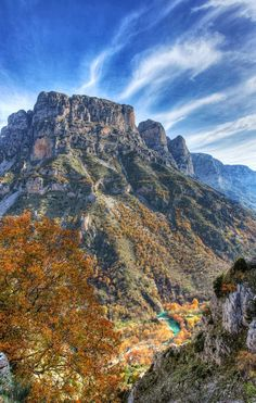 Elena Papa - Google+ - elena papa - Gorge vikos epirus greece Places In Greece, Dynamic Range, Fall Pictures, Rivers, Hdr, Trekking, Lakes, Places To See, Hiking
