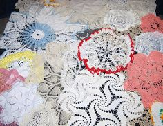 Doily Shabby Chic Vintage Collection 24 by CheekyVintageCloset, $64.00