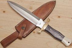 Custom Hand Made Hunting Dagger knife 440C Steel 13.5 by AshBaldes