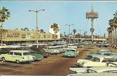 Great old photo with beautiful old cars. The sign in the background says Norwalk Square and looks beautiful at night. Old Pictures, Old Photos, Vintage Pictures, Norwalk California, Southern California, Bullhead City, Drive In Movie Theater, City Of Angels, Tampa Florida