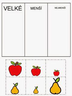 Pro Štípu: Období PODZIM Preschool Apple Theme, Preschool Centers, Preschool Math, Abc Activities, Autumn Activities, Cross Stitch Flowers, Ms Gs, Cross Stitch Designs, Pre School