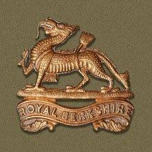 Gilt Metal /& Enamel Lapel Badge Royal  Berkshire Regiment,