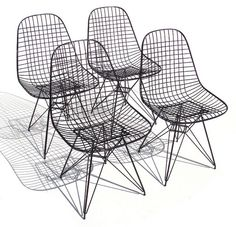 I'd take these Eames Wire Chairs too!