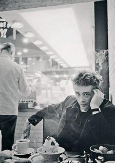Master of the moody stare... James Dean, naturally.