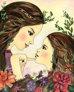 Mothers know best art print mother's day present by claudiatremblay on Etsy