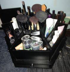 OFF Cosmetic Makeup Organizer Wood Countertop By Lessandmore - Cosmetic makeup organizer wood countertop organizer by lessandmore