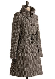 Love this coat! - tweed trench - AUTUMN / WINTER STYLE - clothes