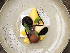 Yuzu, chocolate and lemon .