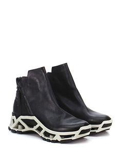 CINZIA ARAIA - Sneakers - Uomo - Sneaker in pelle con zip su ambo i lati e suola in gomma. Tacco 50, platform 35 con battuta 15. - BLACK - € 330.00