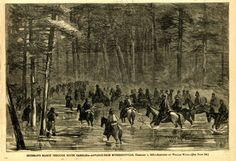 lowcountrydigitallibrary:    Sherman in South Carolina  Weekend history! Tomorrow March 4th will mark 152 years since the black-and-white sketch was printed in Harpers Weekly in 1865 the same year the American Civil War ended. Harpers Weekly printed this image soon after the event. The caption reads Shermans march through South Carolinaadvance from McPhersonville February 1 1865. Sketched by William Waud. About a month after this was published Confederate general Robert E. Lee surrendered to…