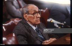 Anthony Accardo testifies before the Senate Government Affairs Committee November 17, 1984 in Washington, DC. Accardo is being investigated on labor racketeering within the Hotel Employees and Restaurant Employees International Union.