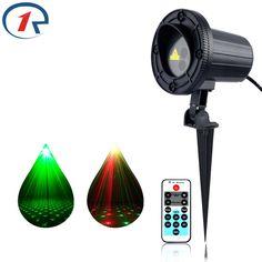 ZjRight Laser lights IR Remote Red Green Sky star projection Waterproof Garden outdoor decor lamp party bar dj Xmas fairy lights