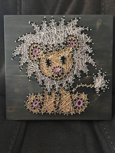 A personal favorite from my Etsy shop https://www.etsy.com/listing/504175386/baby-lion-string-art