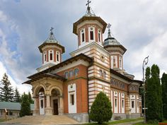 The Sinaia Monastery in Sinaia, Romania, was built in 1695 in a Brancoveanu style by Mihail Cantacuzino the Spatharus, houses religious objects, icons, rare books, pottery and porcelain ware from 16th-19th century. This is still a working monastery.