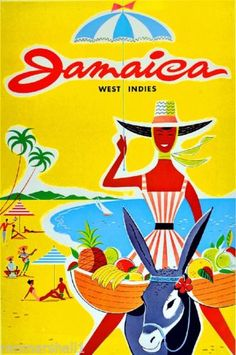 Jamaica-Island-Ocean-Beach-Caribbean-Vintage-Travel-Advertisement-Art-Poster