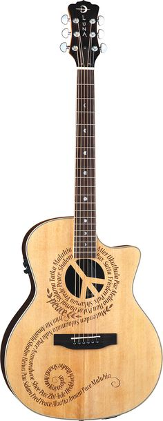 Luna Guitars - Oracle Peace One of the coolest guitars ever