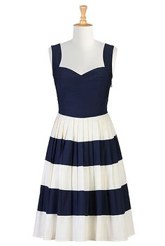eShakti Her fifties colorblock dress