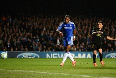 Drogba playing against Barcelona in the Champions League 2012 Semi Final First Leg which Chelsea won 1-0!!!