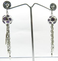 925 silver nepali dangle design Amethyst gemstone stud nice earring pair jewelry #Magicalcollection#handmade #Gemstone #Nepali #Jewelry #ring #earrings #Dangle