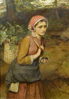 Charles Sillem Lidderdale (British painter) 1831 - 1895 The Fern Gatherer, 1877 oil on canvas 76 x 53 cm. (30 x 21 in.) bears a monogram and dated '77' (lower right) private collection