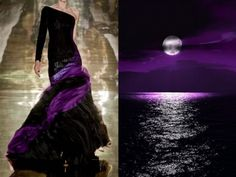 Georges Chakra Haute Couture F/W 2012/13 & Purple moon night. Collage by Liliya Hudyakova.