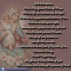 Hail holy queen...