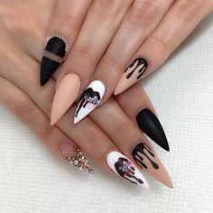 Lip kit nails @kingkylie !