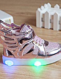 lightup shoes @ $15.82 #lightupsneakers #lightupshoes #ledhightops #neonlightupshoes #lightupshoesforadults #menslightupshoes #womenslightupshoes #pinklightupshoes http://ledlightshoesusa.com/product/glitter-wings/