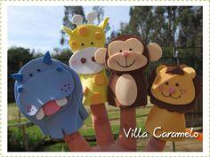 Villa Caramelo: Títeres de Dedos Animales de la Selva