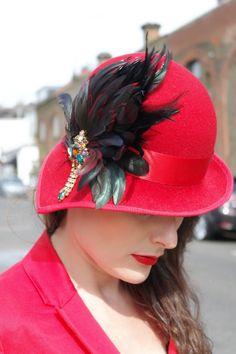 Felt vintage hat 1920 BY BEAUTY OF HATS #HatAcademy #millinery