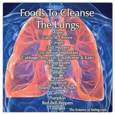 alimentos buenos para los pulmones