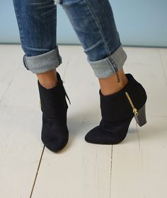 Piace Boutique - Black Bootie with Zipper, $42.99 (http://www.piaceboutique.com/black-bootie-with-zipper/)